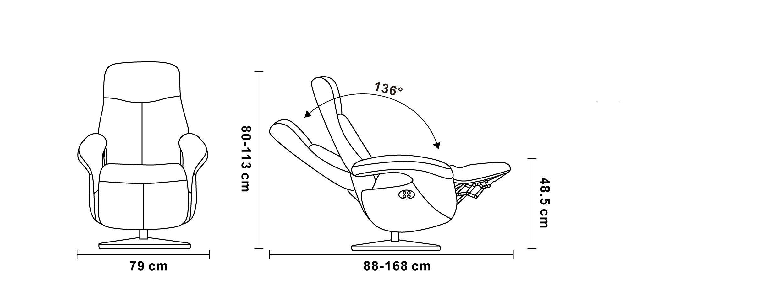 Leather and Microstar Electric Relaxation Armchair - TOLMA Electric Armchairs