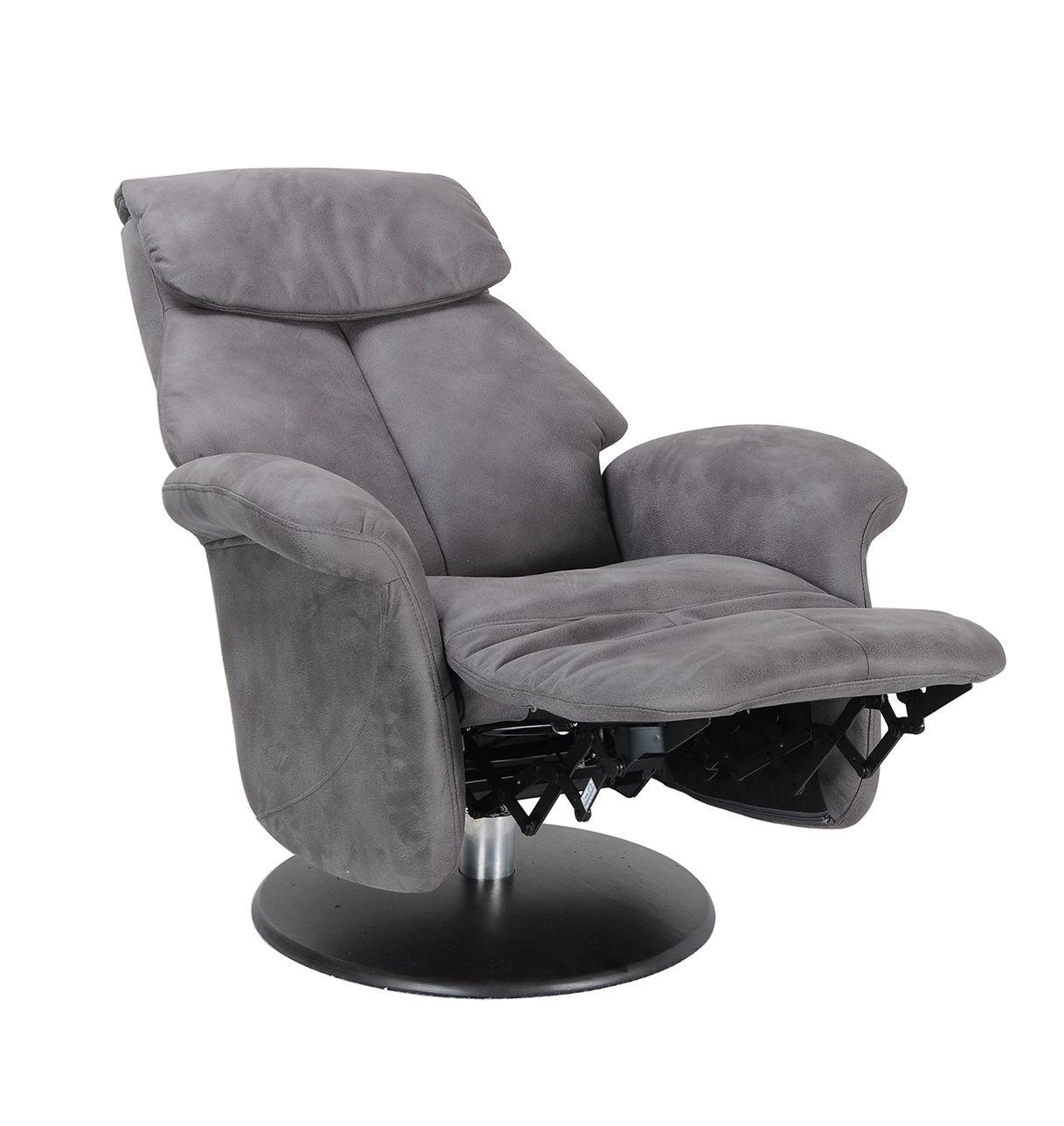 Leather and Microstar Manual Relaxation Amrchair - BREPHOS Relaxation armchair