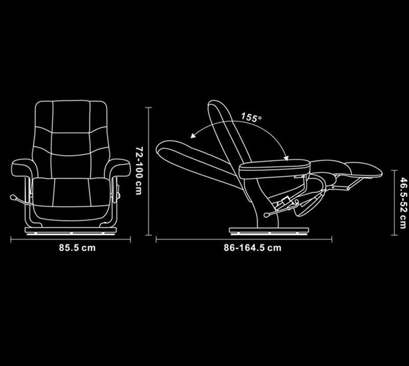 Sillón de relajación de diseño en piel o microfibra - MAX Inicio