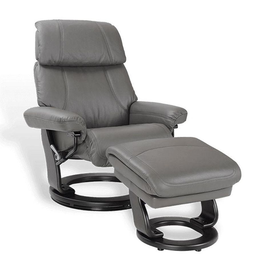 Leather and Microstar Manual Relaxation Armchair - MINORQUE Relaxation armchair