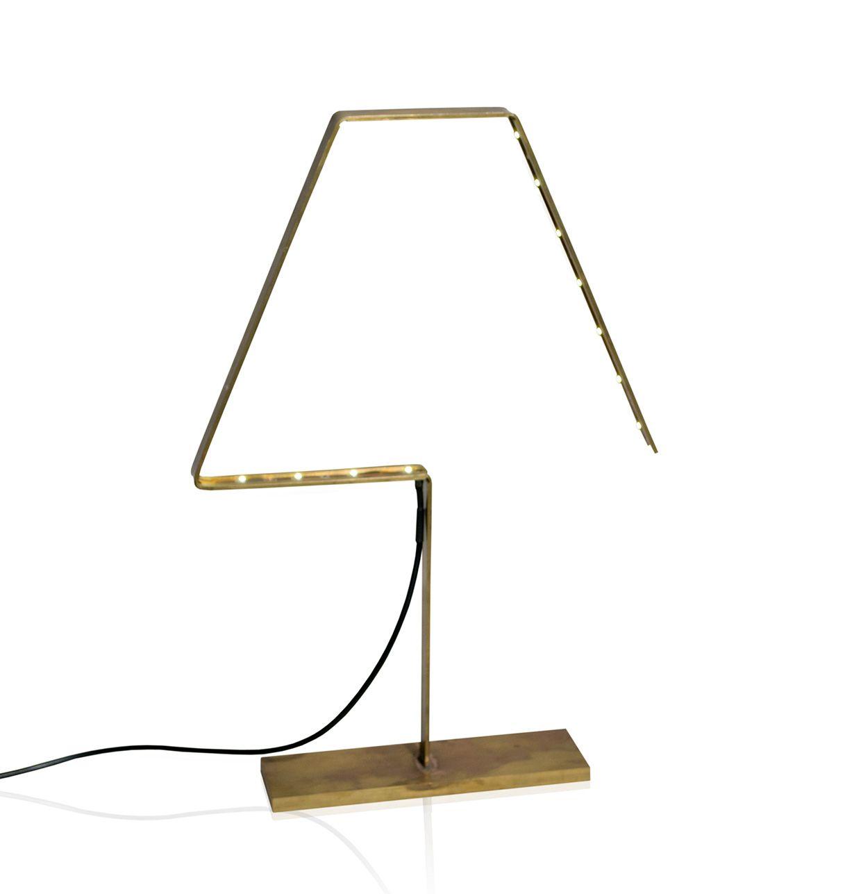 Lampe à Led en Laiton Oxydé ou Cuivre  - Alpha