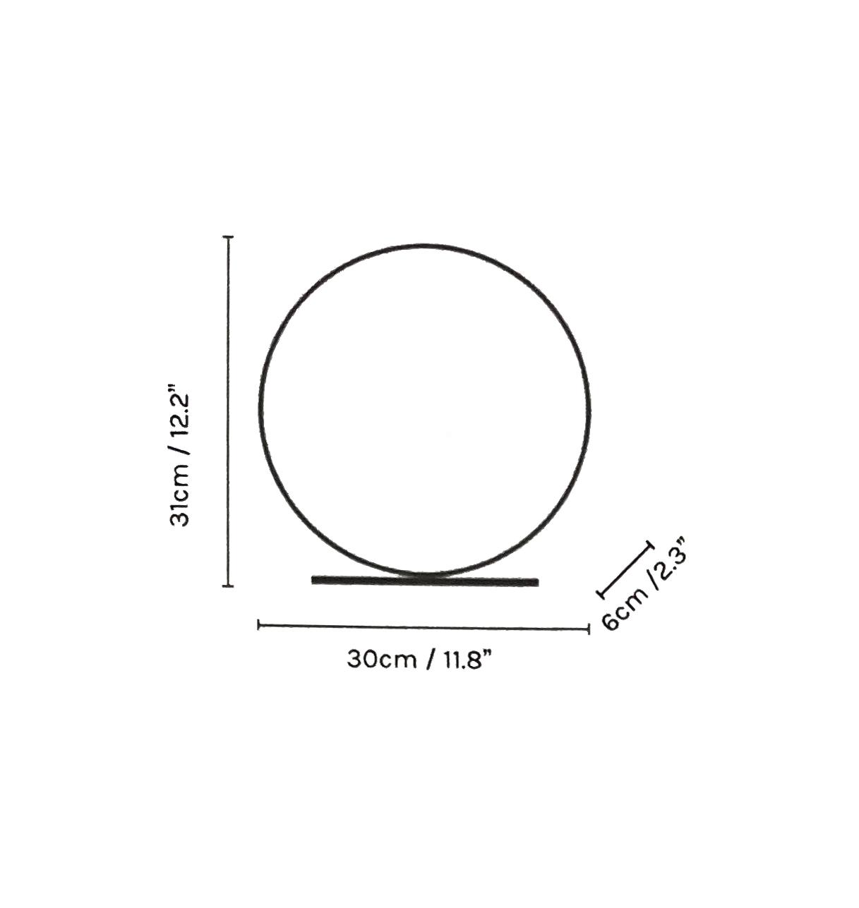 Lampe à Led en Métal laqué Blanc - Diamètre 30 cm - L 'Anneau