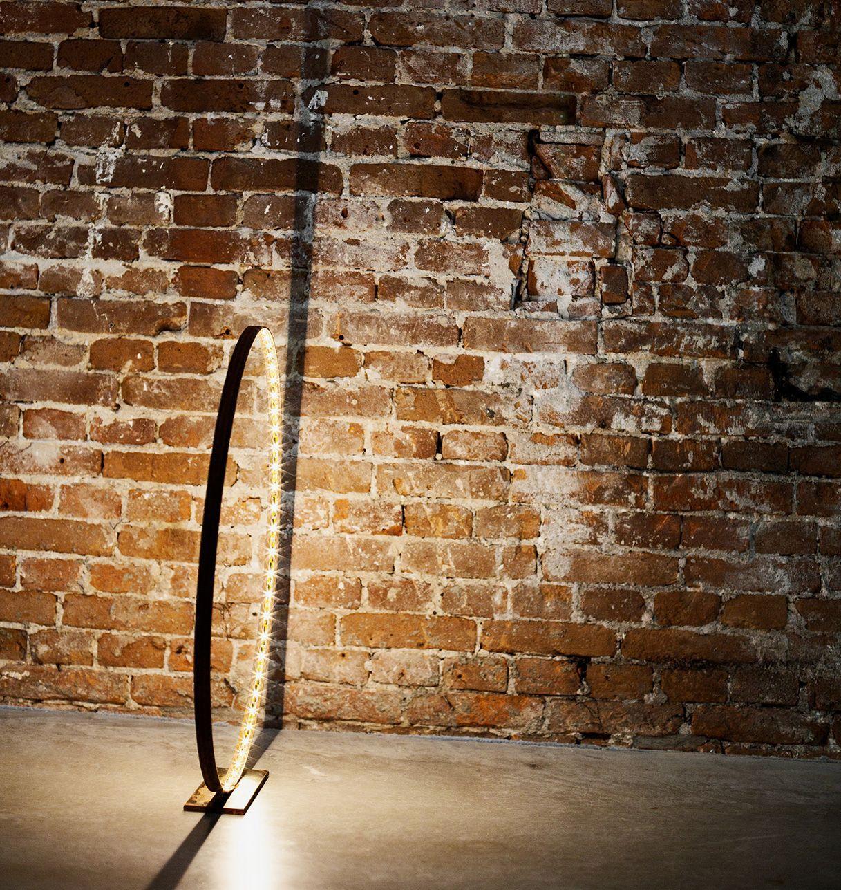 Lampe à Led en Laiton Brossé - Diamètre 30 cm - L 'Anneau