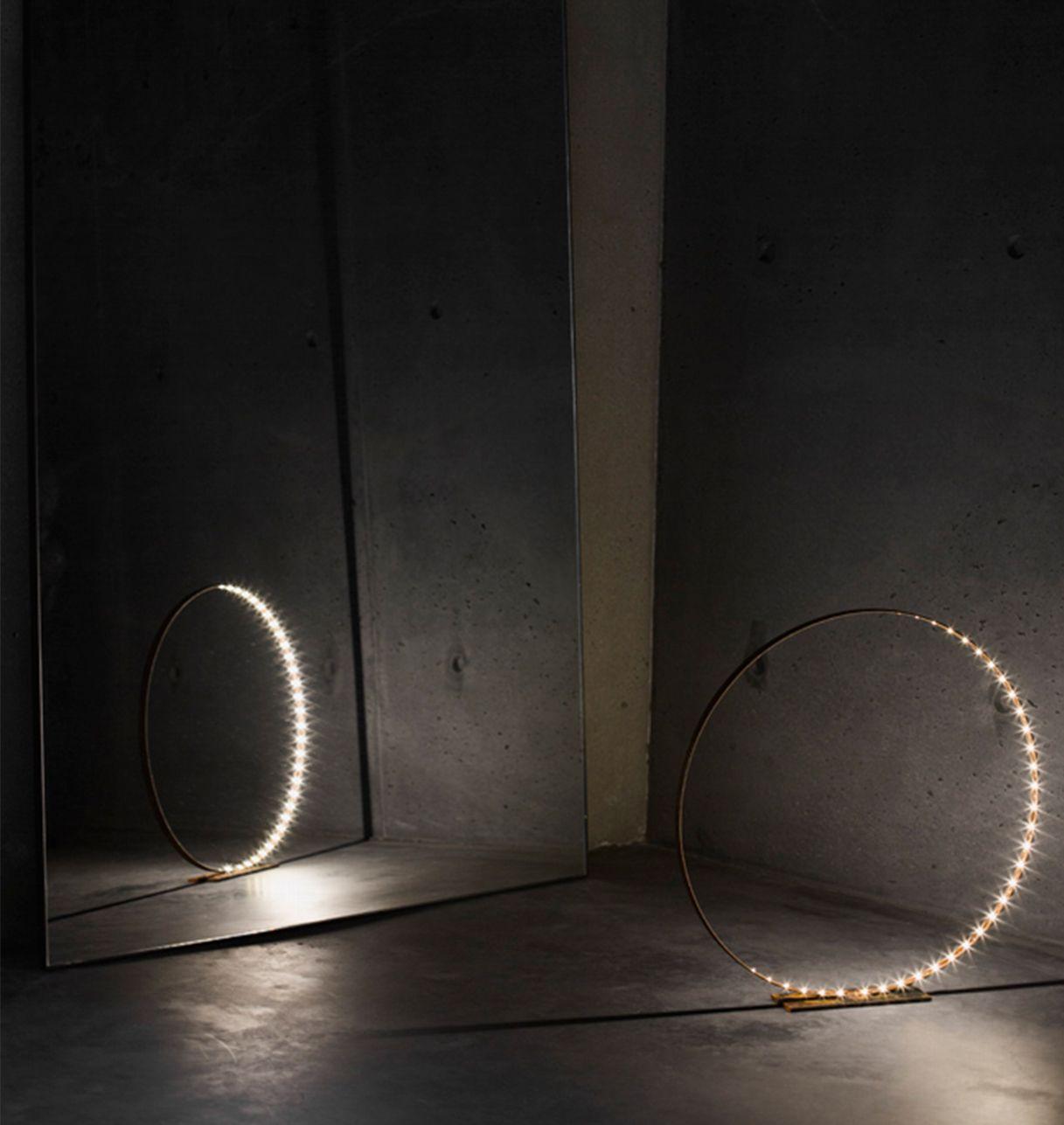 Lampe à Led en Métal Brut - L'Anneau