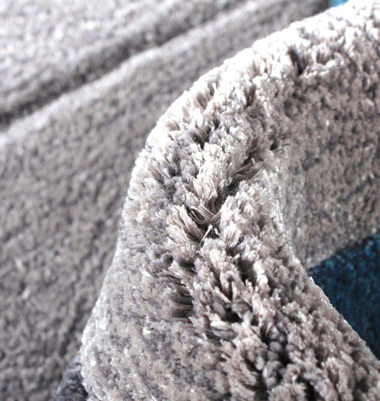Tapis rectangulaire en laine et viscose - Celeste