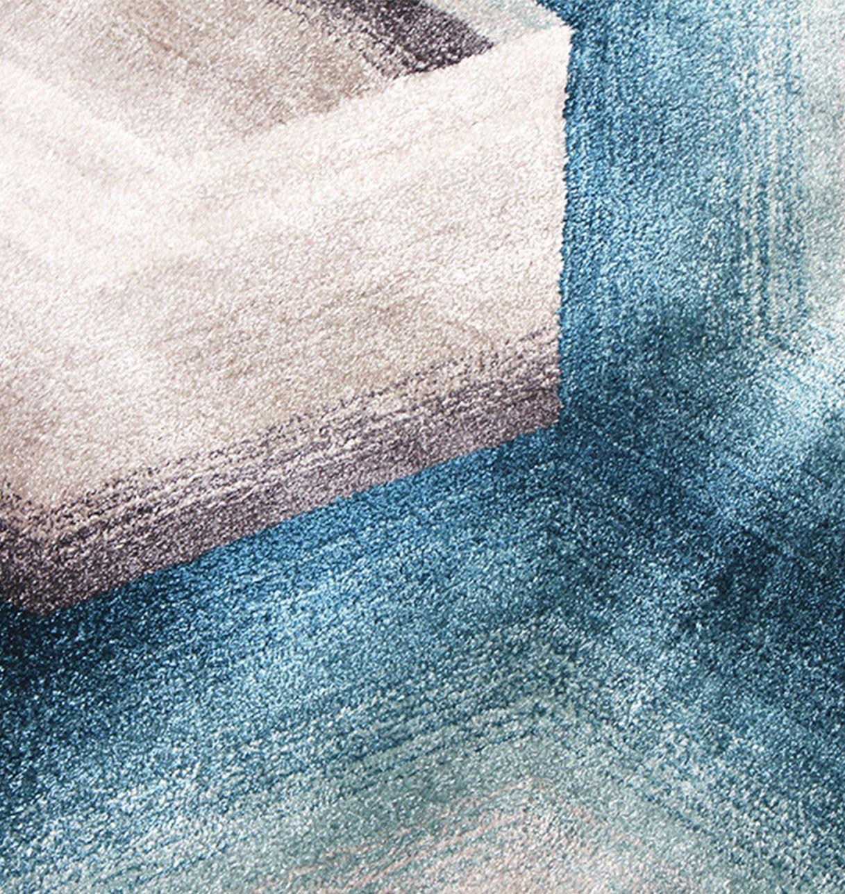 Tapis Dégradé Bleu Gris - Comete