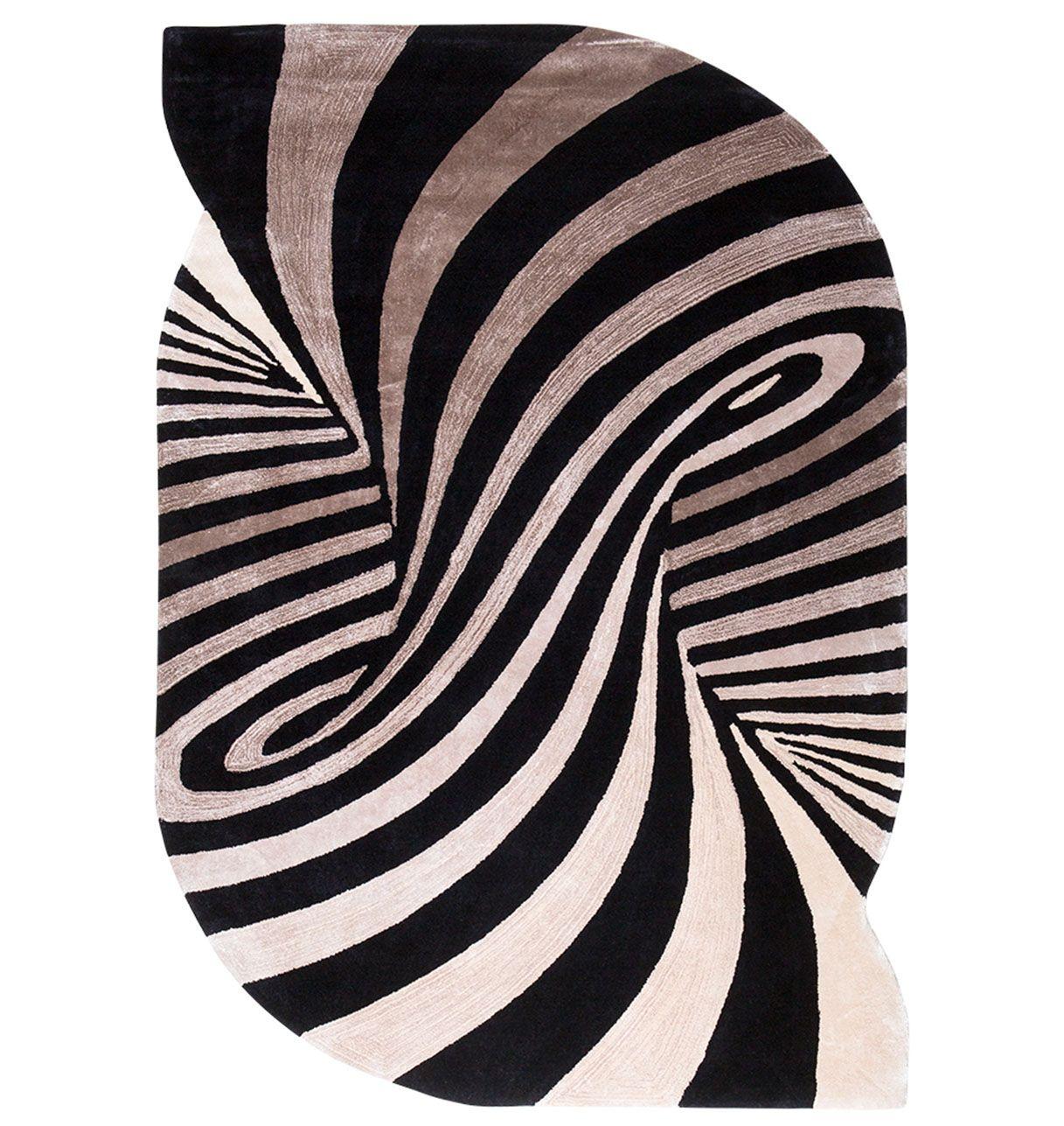 Tapis zebre - Volutes