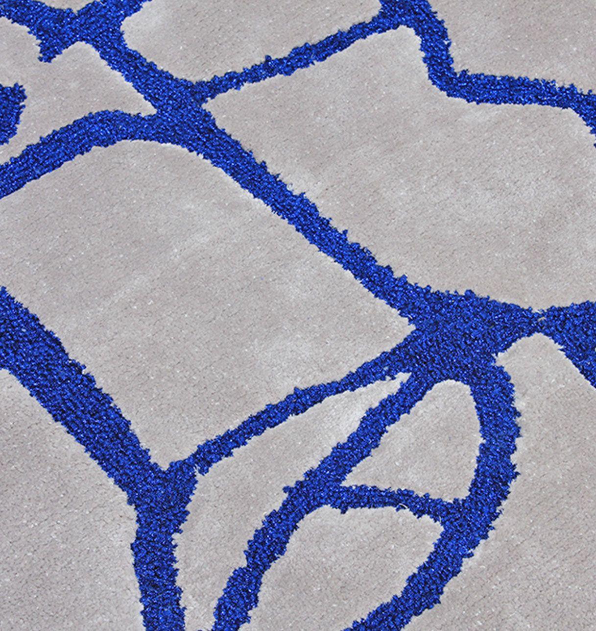 Tapis moderne bleu et gris - Philae