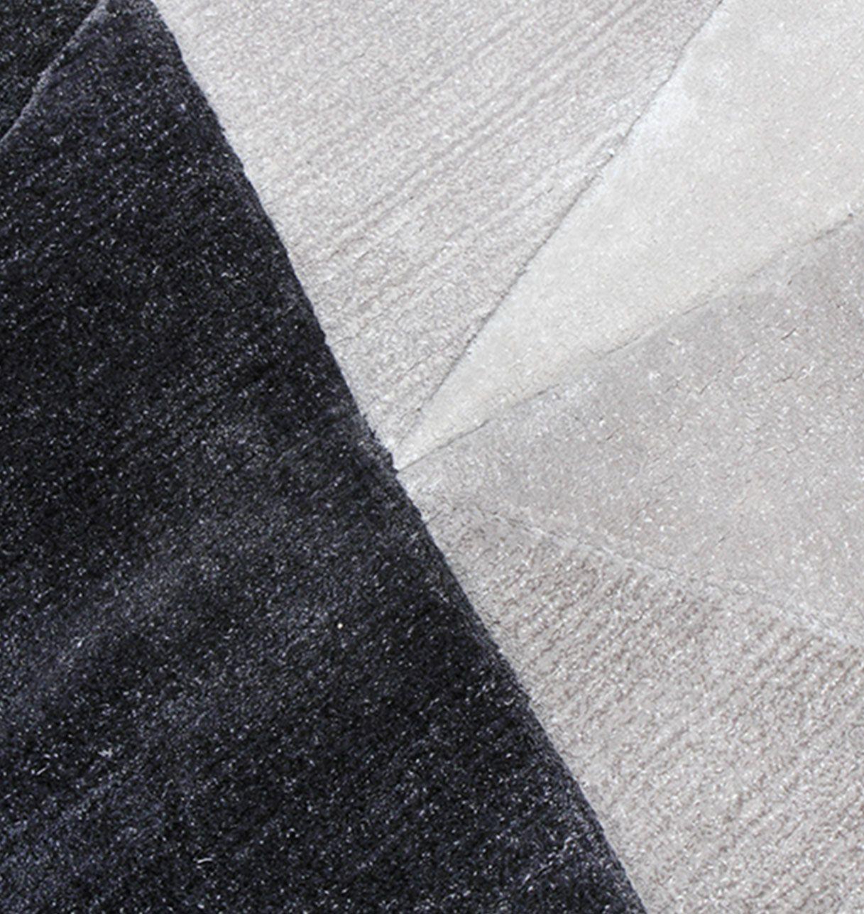 Tapis de Salon Gris, Noir et Jaune Topaze - Cristal