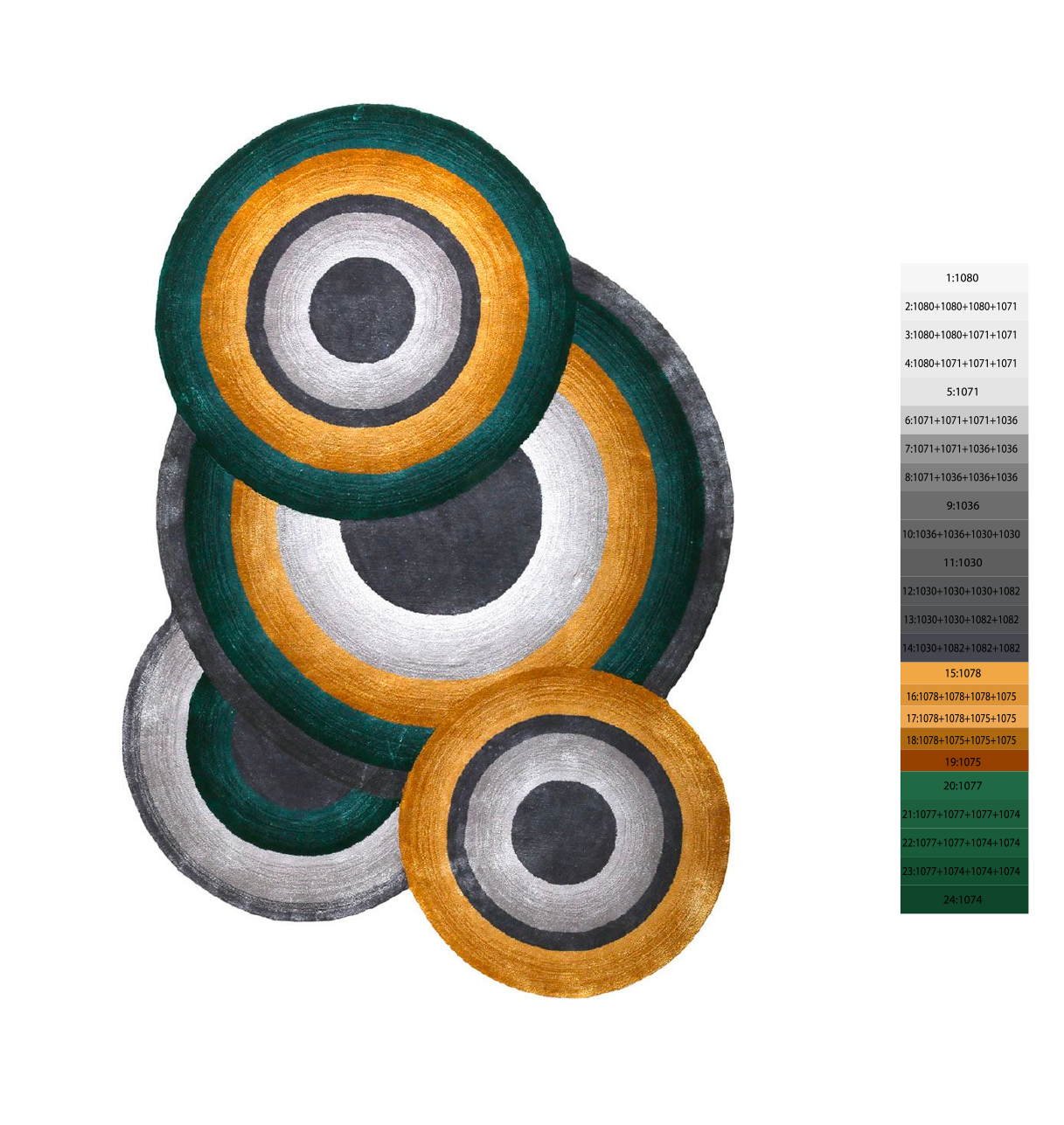 Tapis à motif circulaire - Prelude