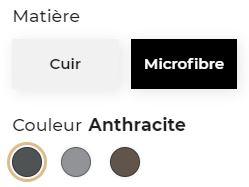 Les variations de produits avec différents coloris et matières